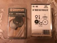 "Champion PGA-075-B Water Champ 3//4/"" In-Line Valve  4 pac"