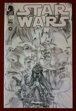 Star Wars #1 - Alex Ross Retailer Sketch 1:200 Variant Comic - Dark Horse - HTF