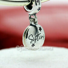 NWT AUTHENTIC PANDORA SILVER CHARM FOREVER SISTERS DANGLE #798012FPC Box Opt
