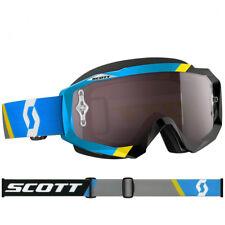 SCOTT MX Hustle Lunettes Motocross asymétrique bleu/noir avec argent MARCHE