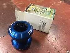 """ACS Crossfire 1"""" External Threadless Sealed Bicycle Headset - Ano Blue"""