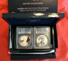 2012-S American Silver Eagle 75th Anniversary-FS-PR70 & PR69DCAM-Gold Shield-OGP