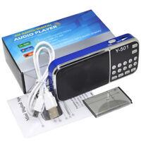 Portable Mini Speaker MP3 Audio Player Flashlight Amplifier SD/ TF with FM Radio