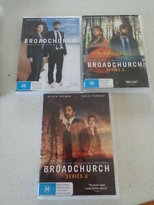 Broadchurch Series The Complete Collection Season 1-3 1 2 3 DVD Set Region 4