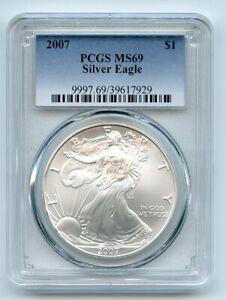 2007 $1 American Silver Eagle Dollar 1oz PCGS MS69