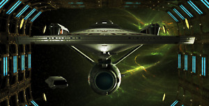 Star Trek ' U.S.S. Enterprise Space Dock' Canvas Print Wall Art -  60cm x 30cm
