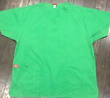 Dickies Nursing medical scrub shirt Large green