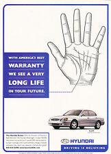 2000 Hyundai Sonata Original Advertisement Car Print Ad J365
