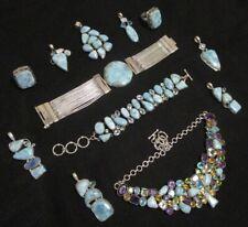 GENUINE wholesale Larimar NEW sterling 925 Silver AAA+ LARIMAR jewelries lot