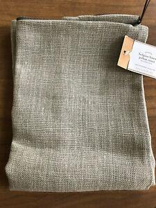 "NEW Pottery Barn BELGIAN LINEN Pillow Cover   24 x 24""  PEWTER"