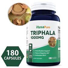 NusaPure Triphala 1000mg Max Strength 180 Capsules (NON-GMO)