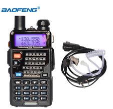BAOFENG UV-5RE PLUS(5R+) VHF/UHF 136-174MHz/400-520MHz Radio Intercom+ Earpiece