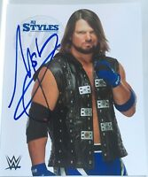 Aj Styles Signed 8x10 White Wwe Promo Photo Smackdown Njpw WWE SHOP
