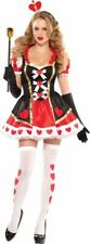 NWOT $88 COSTUME USA ADULT QUEEN OF HEARTS WONDERLAND HALLOWEEN COSTUME - S 2-4