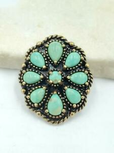 Carolyn Pollack American West Treasures Turquoise Brass Magnetic Insert