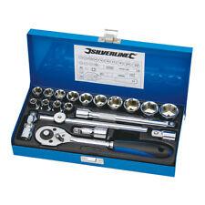 "Silverline Socket Wrench Set 3/8"" Drive Metric 20pce Mechanic - 868524"