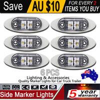 6X LED SIDE MARKER RED AMBER TRAILER CLEARANCE LIGHT LIGHTS LAMP LAMPS 12 - 24V