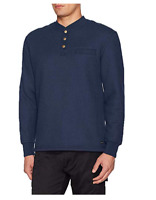 Stanley Men's Sherpa Lined Thermal Henley  Indigo, ZS  M