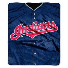 Cleveland Indians 50x60 Plush Raschel Throw Blanket - Jersey Design [NEW] MLB
