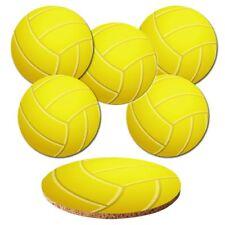"""Untersetzer 6-tlg.Set """"Volleyball"""" mit Korkrückseite - Bälle - Ball - Sport"""