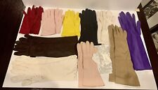 Vintage Lot 12 Pairs Ladies Gloves Long Short Various Colors Styles Pkease Read