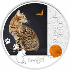 Bengal Our Friends Kitten Proof Silver Coin 1$ Niue 2012