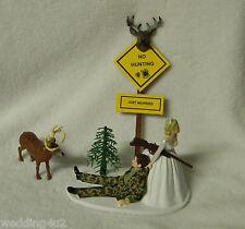 Redneck Wedding Reception Party Camo Deer Gun Sign Hunter Hunter Cake Topper
