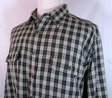 Men's Roundtree & Yorke Flannel Shirt XL Good Cond! Woodsy Outdoors Intl Ok!