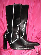 Destroy couture Runway western cowboy boot 6.5 UK4 37