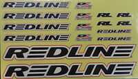 Redline BMX Bicycle Frame & Fork Sticker Set Bike Decals Black Replacement Set