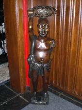STATUE AFRICAINE  DU CONGO BELGE  H 104 CM