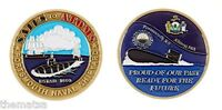 """PORTSMOUTH NAVY NAVAL SHIPYARD SAILS TO ATOMS 1.75"""" CHALLENGE COIN"""