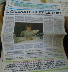 Hebdogiciel n°120 jan 1986 realm of possibility crafton & xunk eden cpc 64
