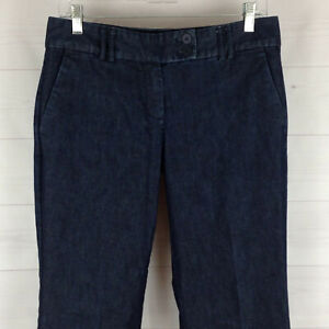 EXPRESS Editor women size 6 stretch blue dark wash mid rise bootcut trouser jean