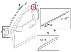 New Genuine Lincoln MKT Front Door Moulding Applique OE BE9Z7420554A