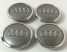 1 Satz Audi Nabenkappen Felgendeckel Nabendeckel 69mm 4B0601170 Grau -Chrom