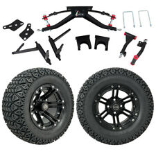 """GTW 6"""" Club Car DS Golf Cart Lift Kit With A/T Tires & 12"""" Wheels Fits 2004.5-Up"""