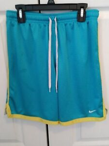 Nike Girl's Basketball Athletic Shorts Blue Lined Mesh size Small