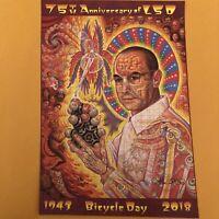 """Alex Grey """"St Albert LSD Revolution Revelation"""" Signed Numbered Blotter Art"""