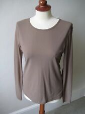 La Fée Maraboutée light brown long sleeved Polyamide top, French size 2