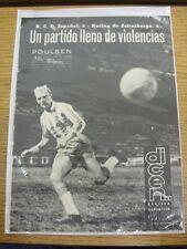 18/01/1963 Dicen Revista Deportiva: No.522 - Reports/Images On Espanol v Racing