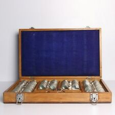 Antique Optical Optometrist Glasses Lens Eye Kit Cabinet Case