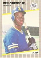 1989 Fleer #548 Ken Griffey Jr. Seattle Mariners RC Baseball Rookie Card