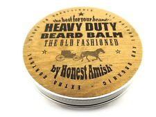 Honest Amish Heavy Duty Beard Balm - 4 OUNCE TIN - Natural Beard Conditioner