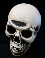 Vintage Halloween Skull Skeleton Head Light Up Plastic Blow Mold Yard Decoration