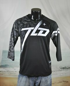 TROY LEE DESIGNS Motocross RUCKUS Jersey Sz M Black Camo Ops Midnight 3/4 Sleeve
