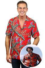 Original Tom Selleck Magnum, P.I. Hawaiihemd Shirt made in Hawaii, ROT, XS-4XL !