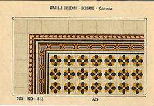 Stampa antica PAVIMENTO A MOSAICO Piastrelle Mattonelle C 725 1910 Antique print