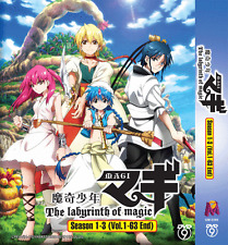 DVD ANIME Magi: The Labyrinth of Magic Season 1~3 Vol.1-63 End + FREE DVD