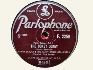 HARRY LEADER - The Cokey Cokey / The Palais Glide 78 rpm disc
